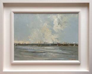 """Dunlaoghaire, Evening Light - Oil - 18 x 24"""""""
