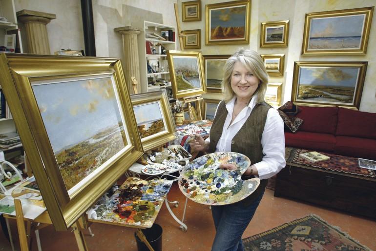 Thelma in Her Studio