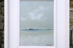 Reflections on the Sand, 12x16in, Oil on Canvas